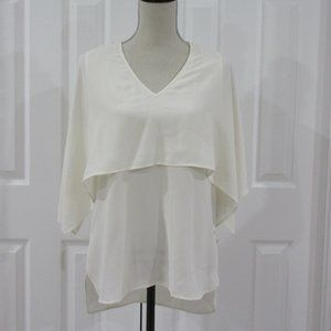 Karen Kane Cream Tank with Attached Cape